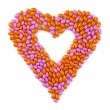 Sweet heart made from candies — Stock Photo #12252341