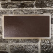 Sign in Metal Frame on Wall — Stock Photo #12252451