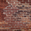 Old Red Brick Wall - Foto Stock