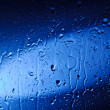 Wet Blue Glass — Stock Photo