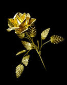 Yellow Metal Rose — Stock Photo