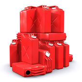 Pile of Gas Cans — Stock Photo