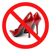Crossed Red High-heel Shoes Sign — Stock Photo