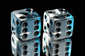 Pair of Clear Dice — Stock Photo