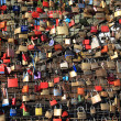 Hohenzollern bridge padlocks - Stock Photo