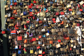 Hohenzollern bridge padlocks — Stock Photo