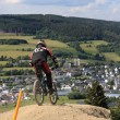 Stock Photo: Downhill race