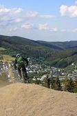 Carrera de descenso — Foto de Stock