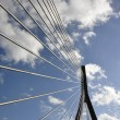Suspension bridge with cables - Stock Photo