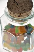 Bonbons im glas — Stockfoto