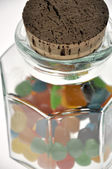 Candy in a glass jar — Stock Photo