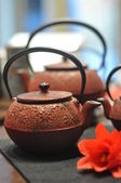 Iron asian teapot — Stock Photo