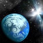 planety ve vesmíru — Stock fotografie