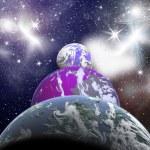Планеты в космосе — Стоковое фото #43957937