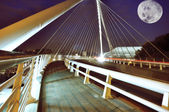 City modern bridge background in liege — Stock Photo