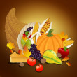 Thanksgiving Background — Stock Vector