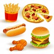 Royalty-Free Stock Vectorielle: Fast Food Set