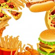 Stock Vector: Fast Food Background