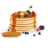 Decorated Pancakes — Stock Vector