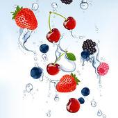 Frutas frescas — Vetorial Stock