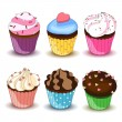 Colorful cupcakes — Stock Vector #14568897