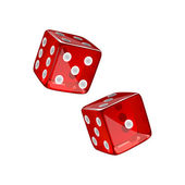 Red dices — Stock Vector