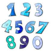 Números de espumantes — Vetorial Stock