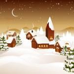 Winter scene - christmas card — Stock Vector #14573259