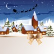 Winter scene - christmas card — Stock Vector #14573353