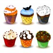 Halloween Cupcakes — Stock Vector