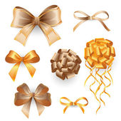 Golden gift bows — Stock Vector