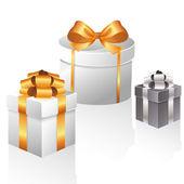 Geschenkdozen — Stockvector