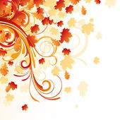 Autumnal design — Stock Vector