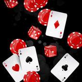 Poker seti — Stok Vektör
