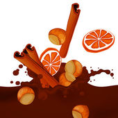 Choco Splash — Vector de stock