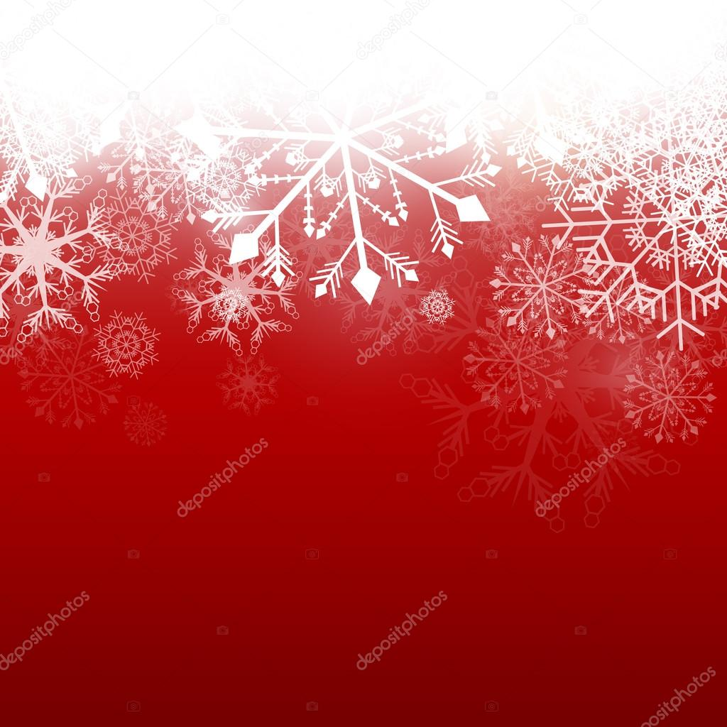 Vector Illustration of a Winter Background with Snowflakes  Stock Vector #14586791