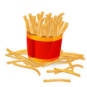 Fingerfood - French Fries — Stock Vector
