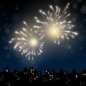 Yeni yıl arifesinde — Stok Vektör