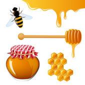 Honey Elements — Stock Vector