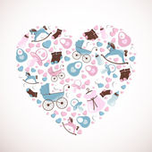 Baby heart — Stock Vector