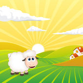 Cute sheep — Vector de stock