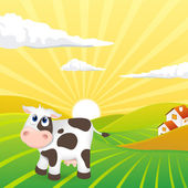 Cute cow — Vector de stock