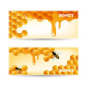 Honey Banners — Stock Vector