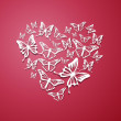 Heart of Butterflies — Stock Vector