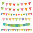 Colorful Garlands - Stock Vector