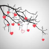 Alla hjärtans gren — Stockvektor
