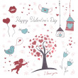 Valentine's Day Elements — Imagen vectorial