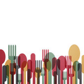 Abstract Cutlery — Stock Vector