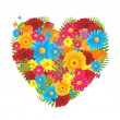 Royalty-Free Stock Vector Image: Floral Heart