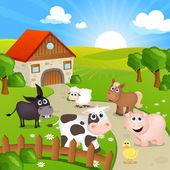 Farm house — Stock Vector